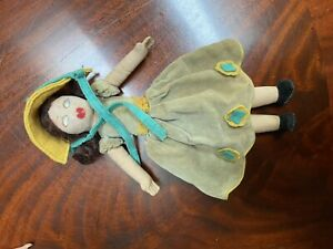 Norah Wellings doll. Original clothing and accessories