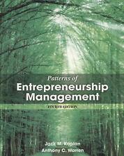 Patterns Of Entrepreneurship Management by Jack Kaplan Anthony C. Warren 4th