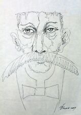 "Original drawing pen ink thin paper 16x 12""  sketch Pronkin CONTEMPORARY ART 6"