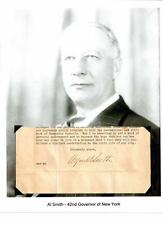 Al Smith Autograph Governor New York City Board of Aldermen Tammany Hall #1
