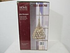 Home Decorators Antique Bronze Mini Pendant with Crystal Shade BRAND NEW IN BOX