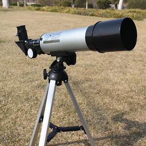 360/50mm Refractive Astronomical Telescope Tripod Monocula Space Scope Refractor