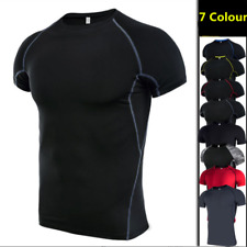 Men's Short Sleeves Shirt Armour Compression Sport wear T shirts Tights Gym Tops