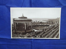 DOUBLE VIEW POSTCARD EASTBOURNE BANDSTAND LOOKING TOWARDS WISH TOWER UNPOSTED
