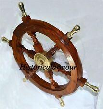 "Rosewood Shipwheel Wood Handicraft Nautical-Gift Boat Steering-Shipwheel Sale"""