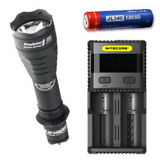 Armytek Predator Pro XP-L Hi w/ SC2 Charger & Jetbeam 3400mAh Battery