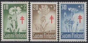 FINLAND Sc. B154-6 Flowers 1959 MNH