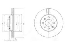 Delphi Delantero 2x Discos de Freno BG4096-venta de liquidación