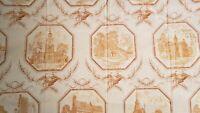 "Toile Drapery American Revolution Colonial  Theme 55 ""x 90"" (2 panels)"
