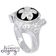 "- Size 8 *New* Orig $119 Kameleon Authentic Silver ""Cz Shank Ring"" (Kr04)"