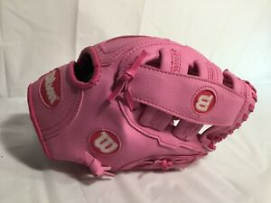 "Wilson 10.5"" Tee Ball Glove A0150T105 A300 Youth Pink baseball T Girl"