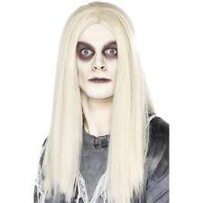 Ville fantôme pour homme Gris Perruque indien tangente longue robe Fantaisie Halloween Zombie Blanc