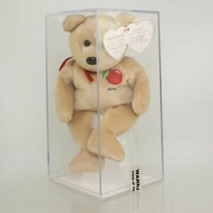 Authenticated TY Beanie Baby - BIG APPLE the Bear (*TY SIGNED* - MWMTs)