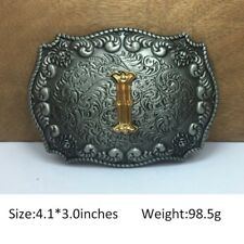 Cool Mens Western Cowboy Texas Rodeo Initial I Solid Steel Belt Buckle Jewelry