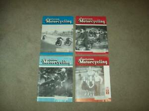 4 vtg AMERICAN MOTORCYCLING 1957 Harley Davidson BSA racing BIKE Triumph old ad