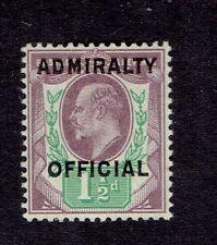 Great Britain # O 80 Admiralty Overprint VFNH Philatelic Foundation Certificate