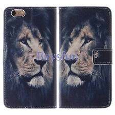 Lion Pattern PU Leather Wallet Cover Case For 4.7 iPhone 6 6S