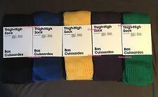 American Apparel Thigh High Socks Blue Green Yellow Black Purple Over The Knee