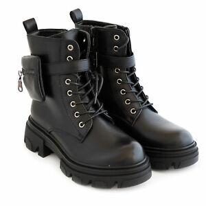 Women's Boots Shoes Booties Biker Combat Boots Rubber Sole Flatform Toocool G650