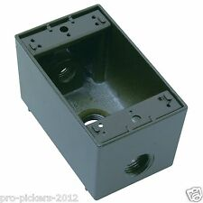 Pass & Seymour 53969 Wpbd23-Br wet location bronze deep gang electrical box