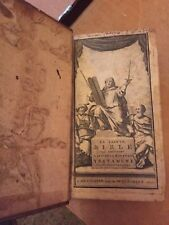 1710 LA SAINTE BIBLE OLD & NEW TESTAMENTS RARE VINTAGE BOOK French ANTIQUE