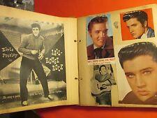 Antique Vintage Early Elvis Scrapbook Photos Articles Stories 64 pages 50's 60's