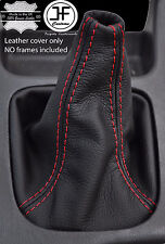 RED STITCHING MANUAL LEATHER SHIFT BOOT FITS SUBARU LEGACY 1999-2003