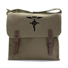 Full Metal Alchemist Flamel Cross Army Heavyweight Canvas Medic Shoulder Bag