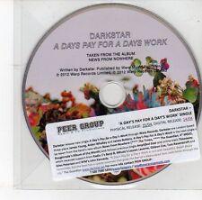 (DS935) Darkstar, A Days Pay For A Days Work - 2012 DJ CD