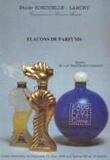 BONDUELLE-LANCRY SCENT PERFUME BOTTLE Piver D'Orsay  Guerlain Lelong Catalog 96