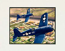 """F4 Corsair, Hickam Air Base Hawaii"" 11x14 Print by  artist Garry Palm"