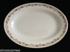KT&K Knowles Taylor Ivory Semi Vitreous China Roses Yellow OVAL SERVING PLATTER