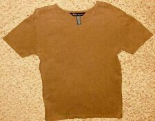 "Banana Republic Woman Brown 32"" Bust Short Sleeve Cotton Spandex Blouse T-Shirt"
