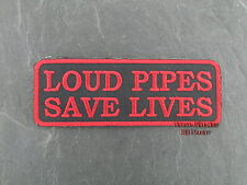 Patches Aufbügler Aufnäher Loud Pipes Save Lives