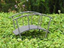 Miniature Dollhouse FAIRY GARDEN Furniture ~ Rustic Bronze Iron Bridge ~ NEW