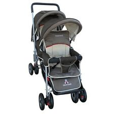 Amoroso 43230-BRWN Enterprise Deluxe Double Stroller NEW