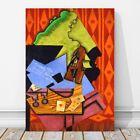 "JUAN GRIS Art - Violin & Playing Cards CANVAS PRINT 12x8"" - Cubist, Cubism"