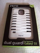 iHome Dual Guard Case for Samsung Galaxy S5 WHITE/BLACK ~ IH-5S113WB ~ New