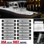 12 Pcs Marine Boat White Led Cabin Courtesy Lights 12v Waterproof Deck Lighting