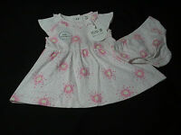 Baby Girl clothes Dress and Knickers pink cotton Mini B BHS 0 - 12 months New