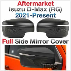 Matte Black Side Mirror Cover Guard Protector For Isuzu D-Max DMAX RG 2021 2022