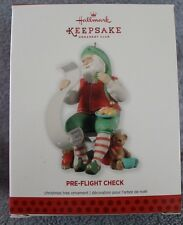 "2013 MEMBER EXCLUSIVE ""PRE-FLIGHT CHECK""  HALLMARK KEEPSAKE ORNAMENT NIB"