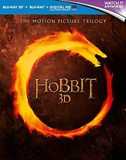 THE HOBBIT TRILOGY 3D & 2D Motion Picture Trilogy BLU-RAY Set  NEW Free Ship