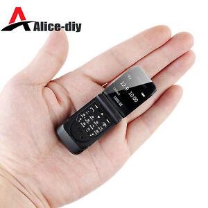 LONG-CZ J9 Smallest Mini Flip Phone 0.66 Bluetooth Dialer Mobile Phone For B2AD