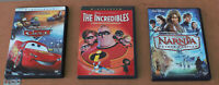 DISNEY DVD LOT WITH SLIPCOVERS: THE INCREDIBLES, CARS, NARNIA PRINCE CASPIAN
