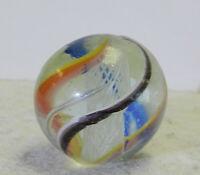 #12556m Bigger .89 Inches German Handmade Latticino Swirl Shooter Marble