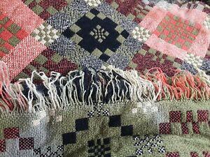 Welsh vintage tapestry blanket DAMAGED