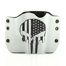 OWB Kydex Gun Holsters, Punisher USA Gray for Glock Handguns