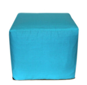 """18"""" Indian Handmade Square Plain Ottoman Pouf Cover Vintage Footstool Seat Cover"""