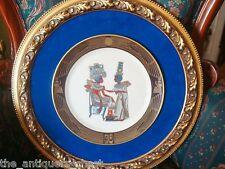 """Pickard professionally framed plate """"The Golden Throne"""" velvet back[a2]"""
